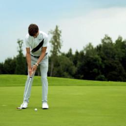 Golfer beim Golfsport